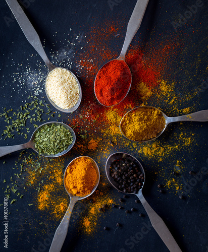 colorful spices - 101378810