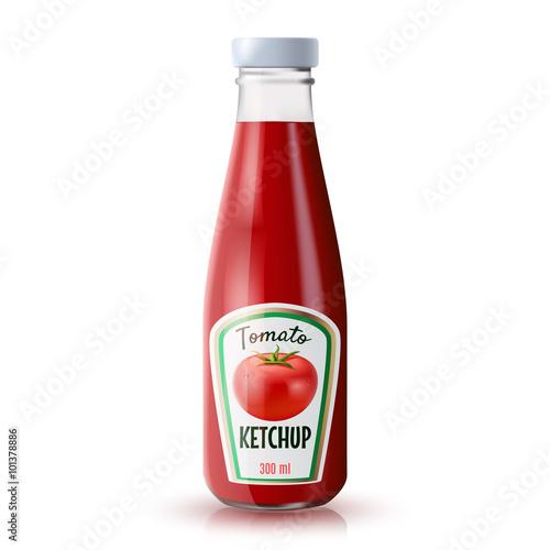 Fotografía  Ketchup Realistic Bottle