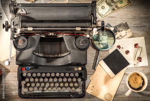 Canvastavla vecchia macchina da scrivere ambient