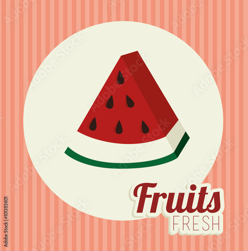 Staande foto Retro sign Fruit healthy food