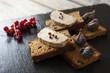 canvas print picture - foie gras sur ardoise