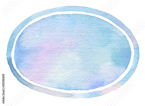 Ellipse watercolor painted background.