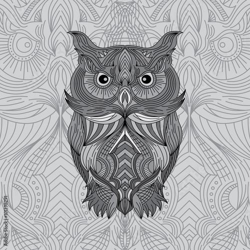 Fotografie, Obraz  owl art theme