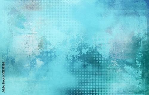 abstrakt texturen raster hellblau Fototapet