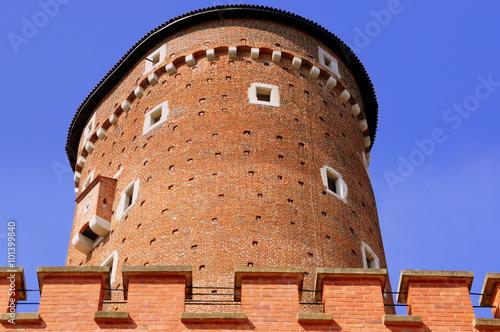 Photo  Krakau - Sandomierska-Turm am Eingang zum Wawel-Schloss