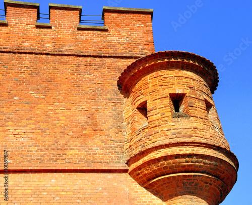 Photo Krakau - Detail an der Wawelmauer