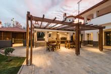 Luxurious Villa Exterior Magic Sky