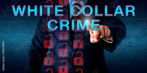 Detective Pressing WHITE COLLAR CRIME Onscreen Slika na platnu