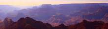Rocky Layers Of The Grand Canyon Panorama