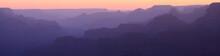 Grand Canyon Sunset Silhouette Panorama