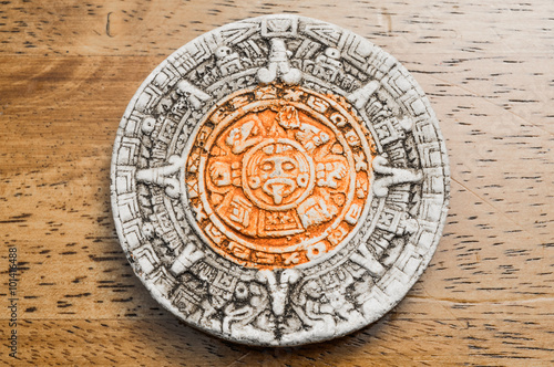 Close Up View Of A Mayan Calendar Buy This Stock Photo And Explore