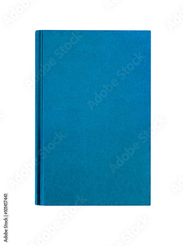 Fényképezés Light blue plain hardcover book front cover upright vertical isolated