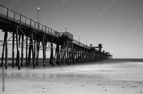 Pier - Black and White image of a pier