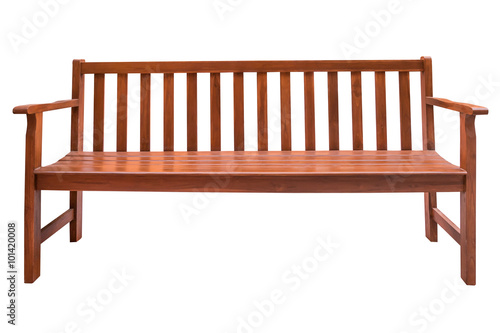 Fotografia Wooden bench isolated.