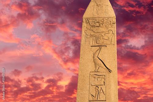 Egyptian obelisk Canvas Print