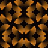 Złudzenie optyczne, wzór błyszczące złote koła. Wektorowy kruszcowy tekstury tło. Prosta edycja, bez gradientu. - 101441450