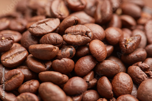 Photo Stands Coffee bar Coffee beans closeup