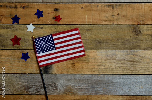 Fotografia, Obraz American flag with red, white and blue stars