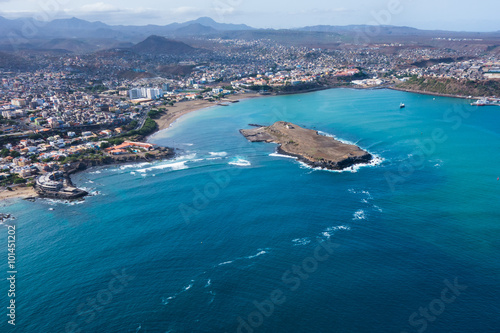 Photo  Aerial view of Praia city in Santiago - Capital of Cape Verde Is