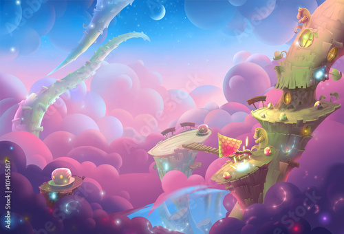 Fotografie, Obraz  Creative Illustration and Innovative Art: A Fantastic WonderLand! Realistic Fant