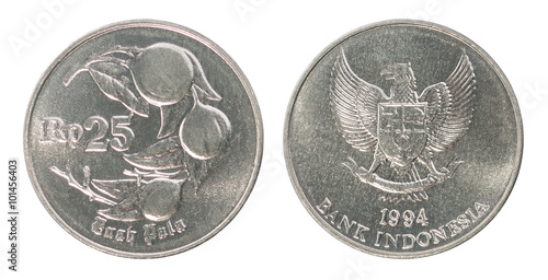 Fotografia  Indonesian rupiah coin set
