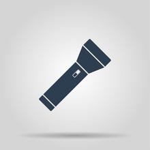 Flashlight Icon. Flat
