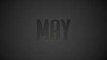 May Metallic Text For Calendar Background