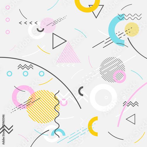 Naklejka dekoracyjna Abstrakcyjny geometryczny kolorowy wzór