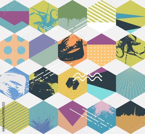 wzor-geometrycznych-kolorowych-szesciokatow