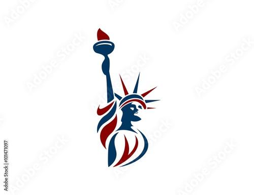 Fotografie, Tablou Liberty statue logo