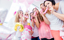 Group Of Women On Baby Shower Party Having Fun