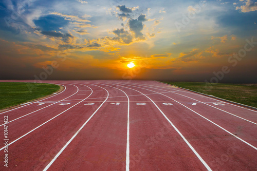 Fototapeta Athlete Track or Running Track with nice scenic