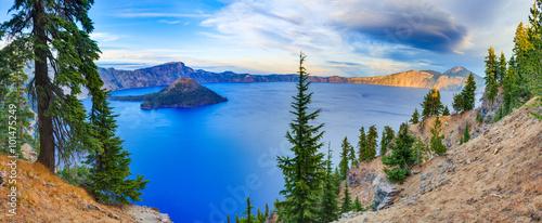 Stampa su Tela Crater lake view