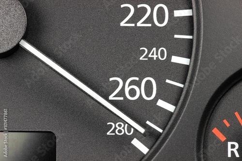 Fotografie, Obraz  Tachonadel bei Höchstgeschwindigkeit