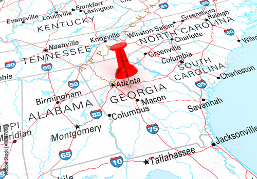 Greensboro Georgia Map.Red Thumbtack Over Georgia Map Is Copyright Free Off A Governme
