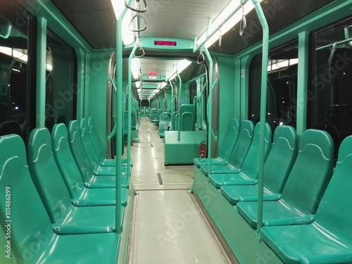 Fotografie, Obraz  Interno di tram vuoto