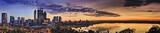 Fototapeta Miasto - Perth Park CBD River yellow sunrise