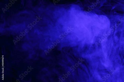 Poster Fumee Abstract blue smoke hookah.