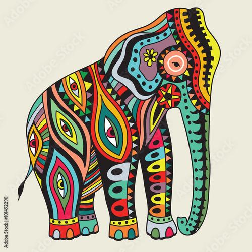 Elefant. Ilustracji wektorowych
