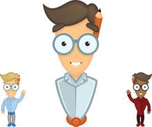 Vector Boy Cartoon Character W...