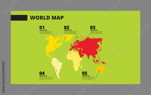 World map template 2 - Buy this stock vector and explore