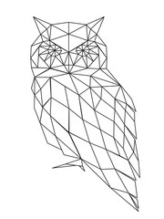 poligonal owl silhouette.