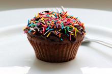 Sweet Chocolate Cupcake. Close...
