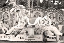 Horse Attraction Painted Carousel Leisure For The Kids