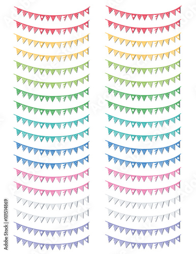 graphic about Printable Notebooks named Attractive lovable printable stickers flags garland for planners