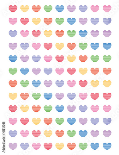 photo regarding Cute Printable Stickers known as Very lovely printable stickers vibrant hearts for planners