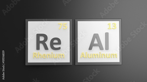 Periodic Table Of Elements Symbols Used To Form Word Real Isolated