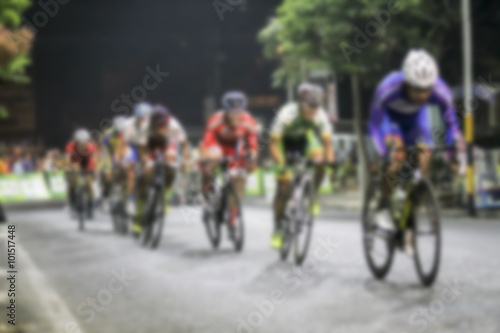 Foto op Aluminium blurry Asian Cycling Championship during the race for background