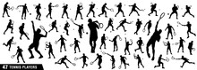 Tennis Silhouettes, Vector Set...