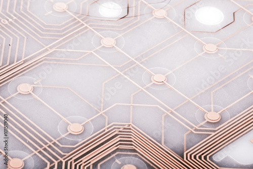 Fotografie, Obraz  printed circuit from keyboard
